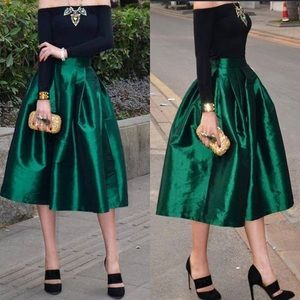 Cents of Style Emerald Vintage Style Skirt